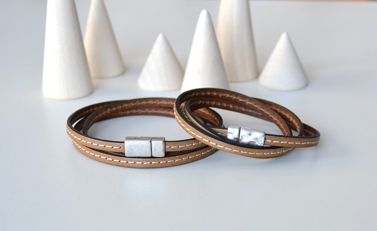 Leather Wrist Straps and Wrapped Bracelets